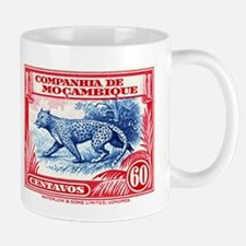 1937 Mozambique Company Leopard Postage Stamp Mugs