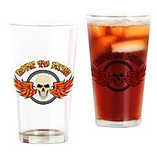 Born To Ride (Road Bike) Drinking Glass