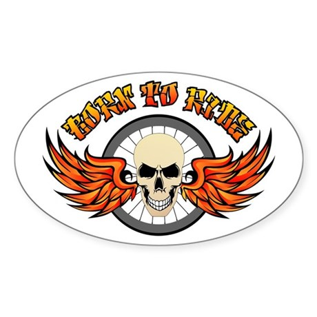 Born To Ride (Road Bike) Sticker (Oval)