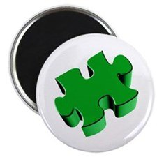 Puzzle Piece 2.1 Green Magnet