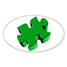 Puzzle Piece 2.1 Green Decal