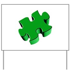 Puzzle Piece 2.1 Green Yard Sign