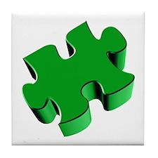 Puzzle Piece 2.1 Green Tile Coaster