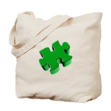 Puzzle Piece 2.1 Green Tote Bag