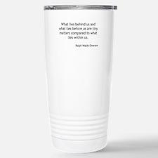 Ralph Waldo Emerson - What Lies Within Travel Mug