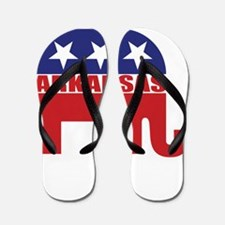 Arkansas Republican Elephant Flip Flops
