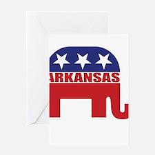 Arkansas Republican Elephant Greeting Cards