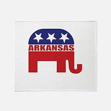 Arkansas Republican Elephant Throw Blanket