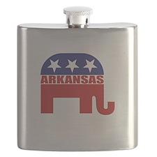 Arkansas Republican Elephant Flask