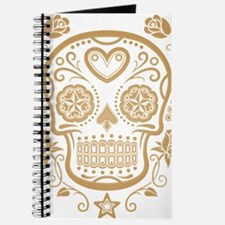 Brown Sugar Skull with Roses Journal