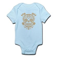 Brown Sugar Skull with Roses Body Suit
