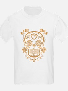 Brown Sugar Skull with Roses T-Shirt