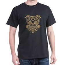 Brown Sugar Skull with Roses T-Shirt