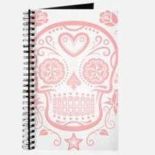 Pink Sugar Skull with Roses Journal