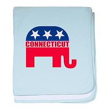 Connecticut Republican Elephant baby blanket