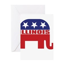 Illinois Republican Elephant Greeting Cards