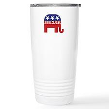 Illinois Republican Elephant Travel Mug