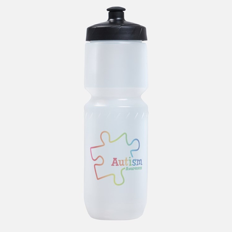 Rainbow Gradient Autism Sports Bottle
