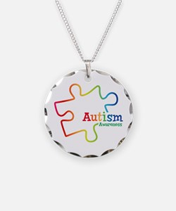 Rainbow Gradient Autism Necklace