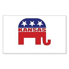 Kansas Republican Elephant Decal