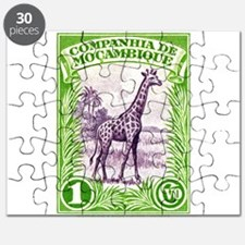 1937 Mozambique Company Giraffe Postage Stamp Puzz