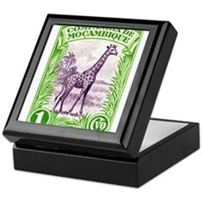 1937 Mozambique Company Giraffe Postage Stamp Keep