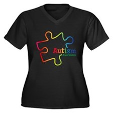 Rainbow Grad Women's Plus Size V-Neck Dark T-Shirt
