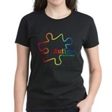 Autism puzzle Women's Dark T-Shirt