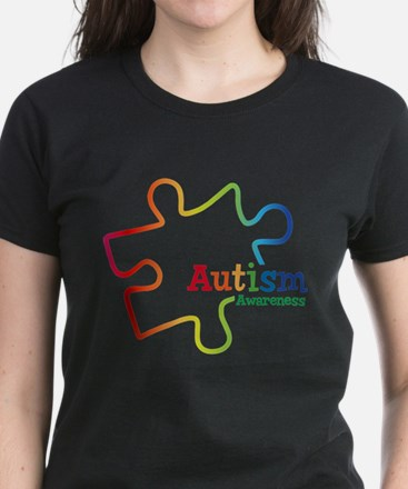 Rainbow Gradient Autism Women's Dark T-Shirt