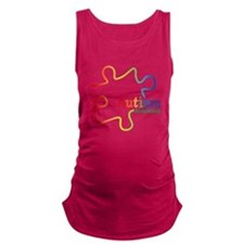 Rainbow Gradient Autism Maternity Tank Top