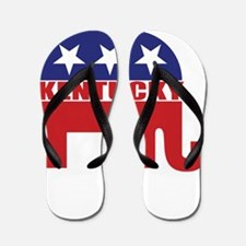 Kentucky Republican Elephant Flip Flops