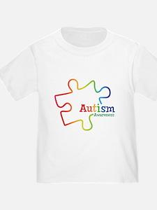 Rainbow Gradient Autism T