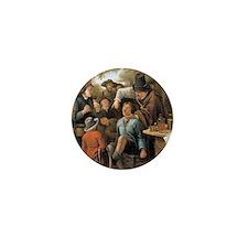 Een Kiezentrekker by  Jan Steen 1651 Mini Button