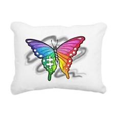 Rainbow butterfly with Puzzle piece Rectangular Ca