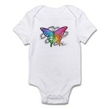 Rainbow butterfly with Puzzle piece Body Suit