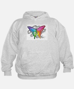 Rainbow butterfly with Puzzle piece Hoodie