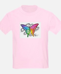 Rainbow butterfly with Puzzle piece T-Shirt