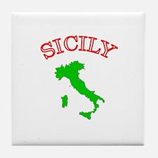 Sicily, Italy Tile Coaster