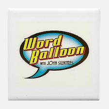 Word Balloon Podcast Logo Tile Coaster
