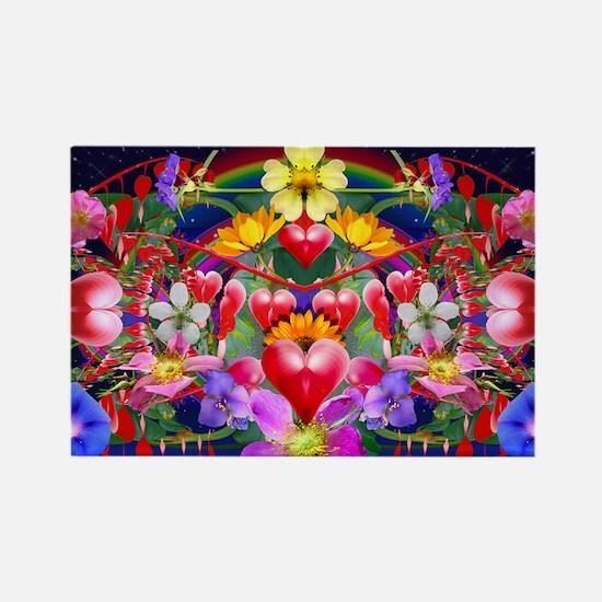 Kansas Wild Flower Bleeding Heart Rectangle Magnet