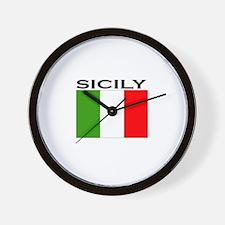Sicily, Italy Wall Clock