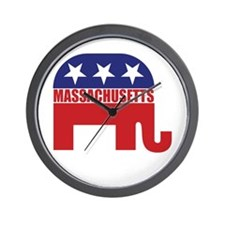 Massachusetts Republican Elephant Wall Clock