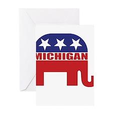 Michigan Republican Elephant Greeting Cards