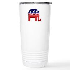 Michigan Republican Elephant Travel Mug
