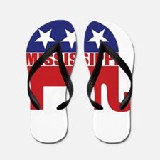 Mississippi Republican Elephant Flip Flops