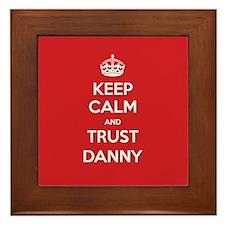 Trust Danny Framed Tile