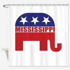 Mississippi Republican Elephant Shower Curtain