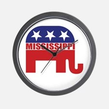 Mississippi Republican Elephant Wall Clock