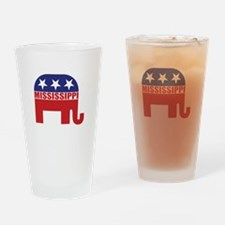 Mississippi Republican Elephant Drinking Glass