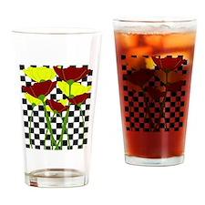 Damier fleuri Drinking Glass